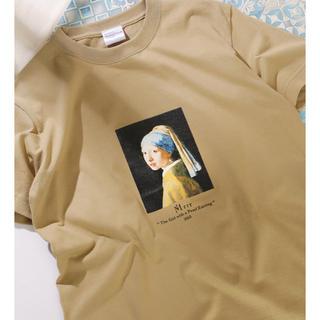 フリークスストア(FREAK'S STORE)の新品L 別注ART TEE GIRL WITH A PEARL EARRING (Tシャツ/カットソー(半袖/袖なし))