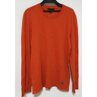 ルイヴィトン(LOUIS VUITTON)の極美品 ルイヴィトン  メンズ  ロゴカットソー  オレンジ(Tシャツ/カットソー(七分/長袖))