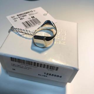 マルタンマルジェラ(Maison Martin Margiela)の【新品】19SS マルジェラ リバーシブル シルバー リング Mサイズ(リング(指輪))
