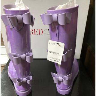 レッドヴァレンティノ(RED VALENTINO)の大幅値下げ❗️レッドヴァレンティノ リボンレインシューズ(レインブーツ/長靴)