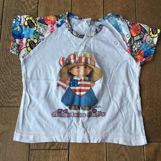 90  Tシャツ  女の子(Tシャツ/カットソー)