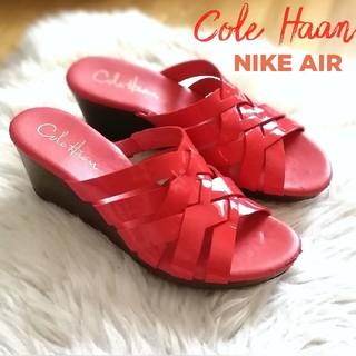 コールハーン(Cole Haan)のコールハーン×NIKE AIR/サンダル*ミュール/エナメル/赤/5B/22.5(ミュール)