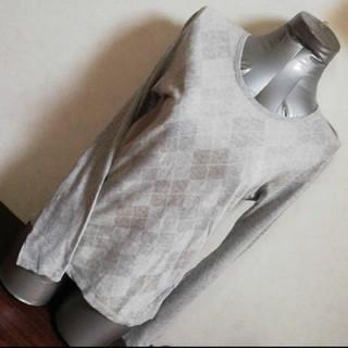 ハレ(HARE)のHARE ダイヤ柄 シンプル長袖Tee 薄手(Tシャツ/カットソー(七分/長袖))