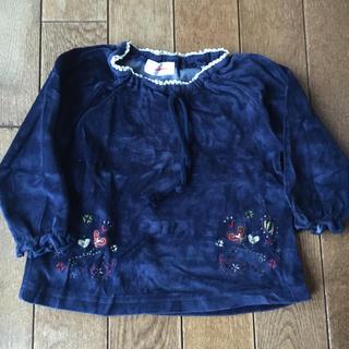 90  ベロア素材  長袖 カットソー(Tシャツ/カットソー)