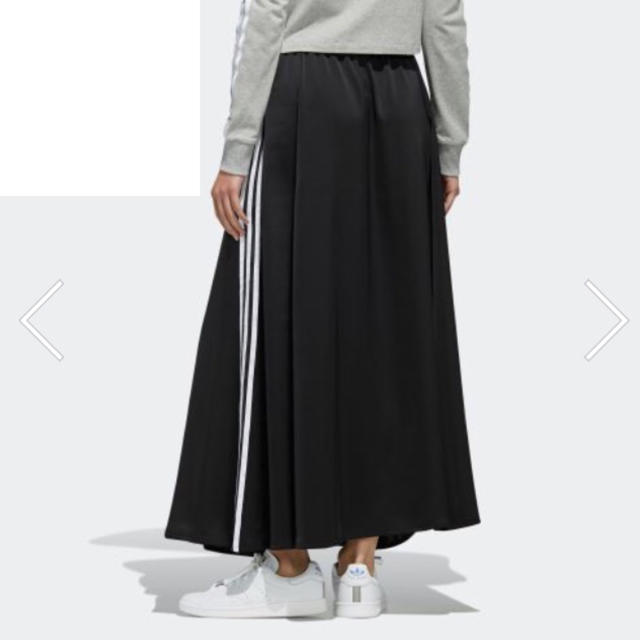 adidas(アディダス)のアディダスオリジナルス ロングスカート LONG SATIN SKIRT レディースのスカート(ロングスカート)の商品写真
