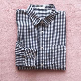 アーバンリサーチ(URBAN RESEARCH)のネイビーギンガムチェックシャツ(シャツ/ブラウス(長袖/七分))
