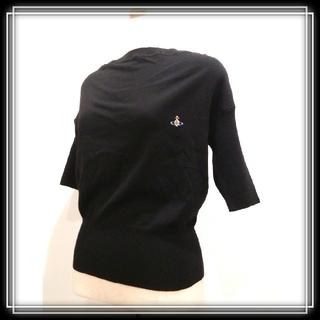 ヴィヴィアンウエストウッド(Vivienne Westwood)のイタリア製 ヴィヴィアン 新品 半袖 黒 定価¥72,360 vivienne (ニット/セーター)