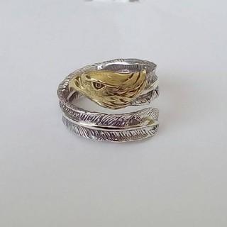 シルバーリング s925 イーグル フェザー フリーサイズ ゴールド(リング(指輪))