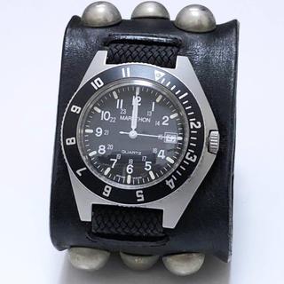 アンダーカバー(UNDERCOVER)のundercover T期 スタッズレザーバングル時計 MARATHON(腕時計(アナログ))