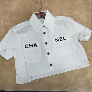 シャネル(CHANEL)のCHANEL サマーブラウス ロゴCC(シャツ/ブラウス(半袖/袖なし))