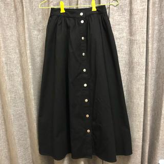 LOWRYS FARM - ロングスカート 膝下 黒 LOWRYSFARM