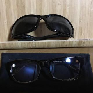 ユニクロ(UNIQLO)のBobstarサングラス と UNIQLO伊達眼鏡セット(サングラス/メガネ)