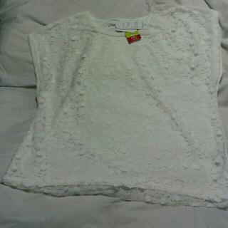 シマムラ(しまむら)のブラウス (ホワイト)  4L   061601(シャツ/ブラウス(半袖/袖なし))