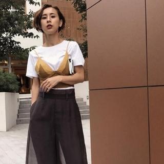 アメリヴィンテージ(Ameri VINTAGE)の新品タグ アメリヴィンテージ MEDI KNIT BUSTIER SET TEE(Tシャツ(半袖/袖なし))