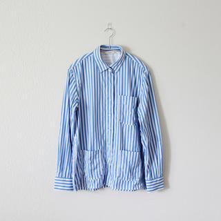 セリーヌ(celine)のCELINE/セリーヌ/16SS/ワイドストライプオーバーサイズシャツ(シャツ/ブラウス(長袖/七分))