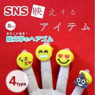 海外 でも SNS line メール チャット キュート ヘアゴム ヘアピン(ヘアピン)