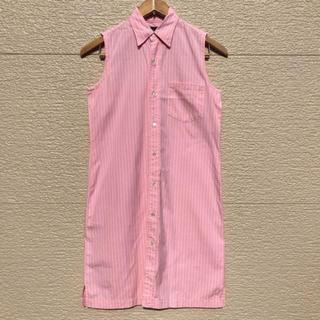 ラルフローレン(Ralph Lauren)のラルフローレン ワンピース 国内正規 ストライプ ピンク 7(ひざ丈ワンピース)