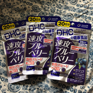 ディーエイチシー(DHC)のDHC 速攻ブルーべリー20日分×3袋(その他)