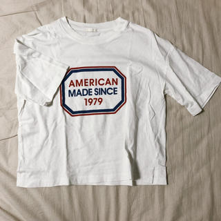 GU - 【ロゴがかわいい!】半袖Tシャツ