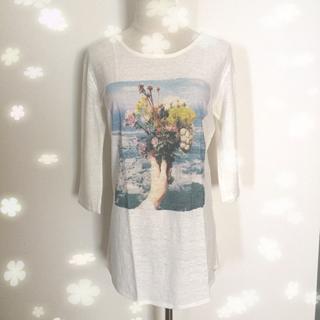 mjuka - 美品 ミューカ プリント Tシャツ カットソー F