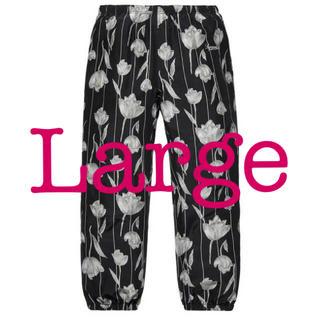 Supreme - Supreme Floral Silk Track Pant 黒L Black