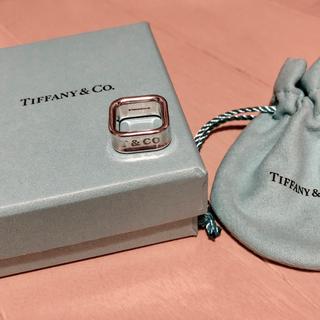 ティファニー(Tiffany & Co.)のTIFFANY レア!1837スクエアリング(リング(指輪))
