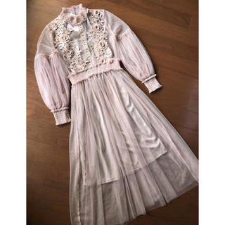 リリーブラウン(Lily Brown)のインポート♡刺繍チュールロングワンピース(ロングワンピース/マキシワンピース)