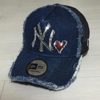 NEW ERA - 《レア》NEWERA/ニューエラ ヤンキース ハート デニム メッシュ キャップ