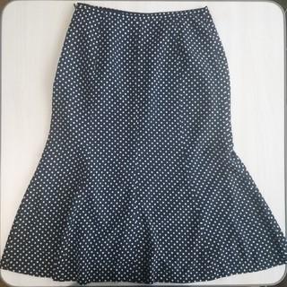 ベルメゾン(ベルメゾン)のドットフレアスカート(ひざ丈スカート)