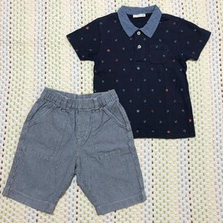 ジーユー(GU)のGUポロシャツ&UNIQLOパンツ2点セット110㎝(Tシャツ/カットソー)