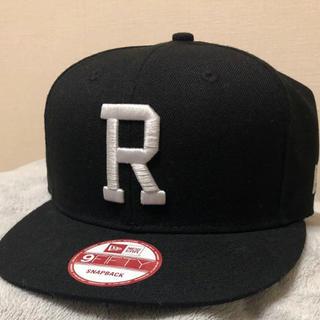 ロンハーマン(Ron Herman)のRHC ロンハーマン 別注 ニューエラ NEW ERA限定★R刺繍キャップ 黒(キャップ)