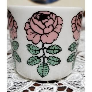 マリメッコ(marimekko)のマリメッコ  ヴィヒキルース 廃盤品 ラテマグ  ピンク(グラス/カップ)