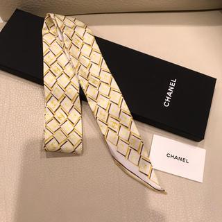 シャネル(CHANEL)の美品❤️シャネル ツイリー スカーフ シルク プチスカーフ(バンダナ/スカーフ)