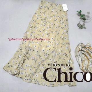 who's who Chico - 【新品】who'swhoChicoフーズフーチコ★花柄ミディフレアスカート