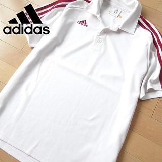 adidas - 美品 Oサイズ アディダス メンズ 半袖ポロシャツ ホワイト