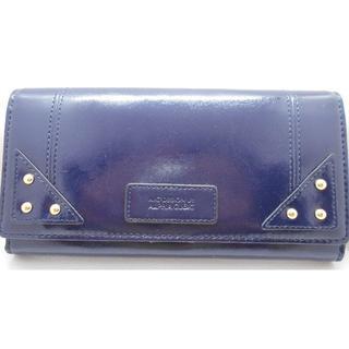 アルファキュービック(ALPHA CUBIC)の【新品】アルファキュービック 長財布 ブルー レディース(財布)