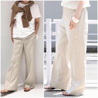 Plage - 新品■plage■ Linen stripe SLAX パンツ  38