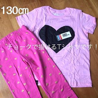 ギャップキッズ(GAP Kids)のGap kids レギンス&MADE IN  USA Tシャツセット 130(パンツ/スパッツ)