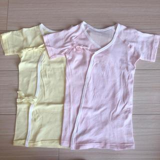 ニシマツヤ(西松屋)の【新品・未使用】新生児 長肌着 2枚セット (肌着/下着)