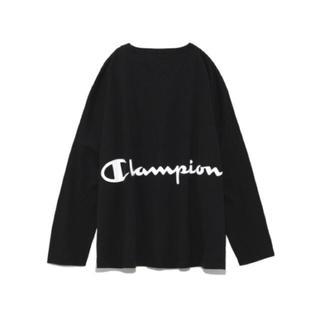 FRAY I.D - ブラック バックプリントロングTシャツ