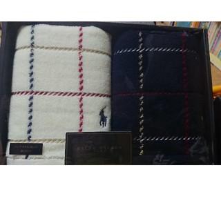 ラルフローレン(Ralph Lauren)の新品 ラルフローレン ハンドタオル 2枚セット 箱なし(タオル/バス用品)