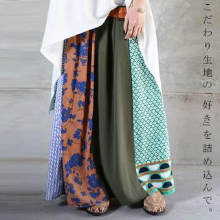 新品タグ無し☆彡【antiqua】花柄 ロング スカート 【アンティカ】