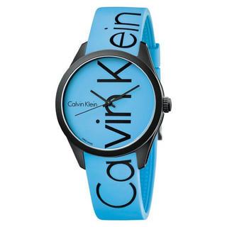Calvin Klein - 新品 CK 腕時計 男女兼用 K5E51TVN ブルー ラバー 軽量