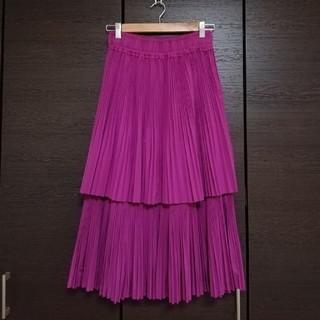 バビロン(BABYLONE)のBABYLONE バビロン プリーツスカート 2段プリーツ(ひざ丈スカート)