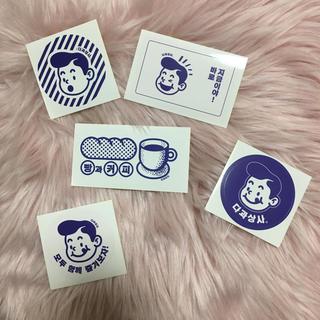 韓国 カフェ ステッカー シール 文房具