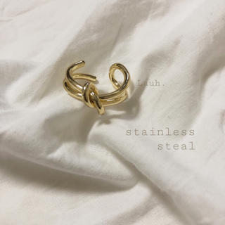 BEAUTY&YOUTH UNITED ARROWS - 《1点のみ》j160.stainless knot ring