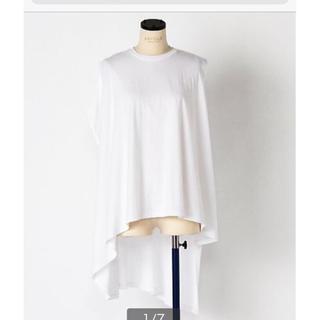 エンフォルド(ENFOLD)のエンルォルド トップス Tシャツ ホワイト ドゥーズィエムクラス enfold (Tシャツ(半袖/袖なし))