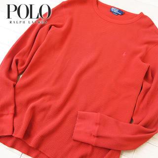 POLO RALPH LAUREN - 超美品 L ポロバイラルフローレン メンズ 長袖カットソー オレンジ