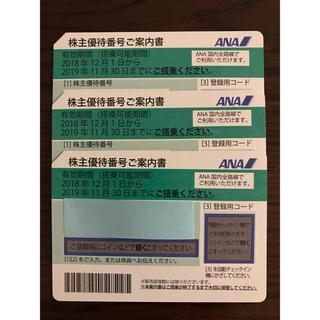 ANA(全日本空輸) - ANA 株主優待 3枚セット