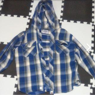アベイシングエイプ(A BATHING APE)のチェックシャツ フード付き(シャツ)
